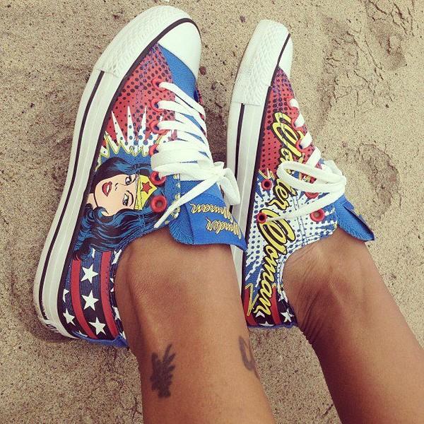 shoes converse wonder woman nice cute