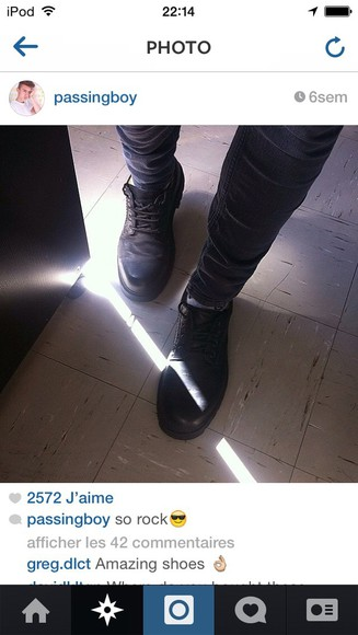 shoes black low boots
