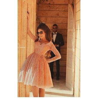 dress coral dress arabic evening dress