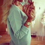 sweater,mint sweater,pullover,nude