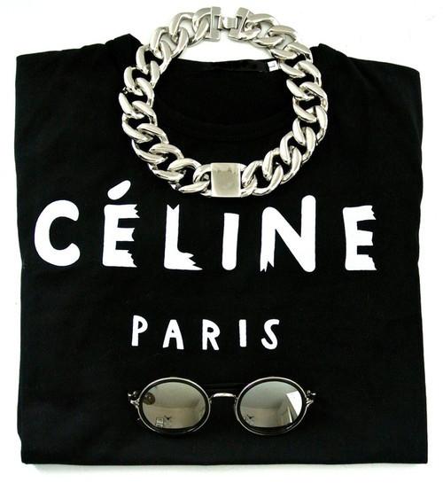C*line Black T-Shirt – Glamzelle