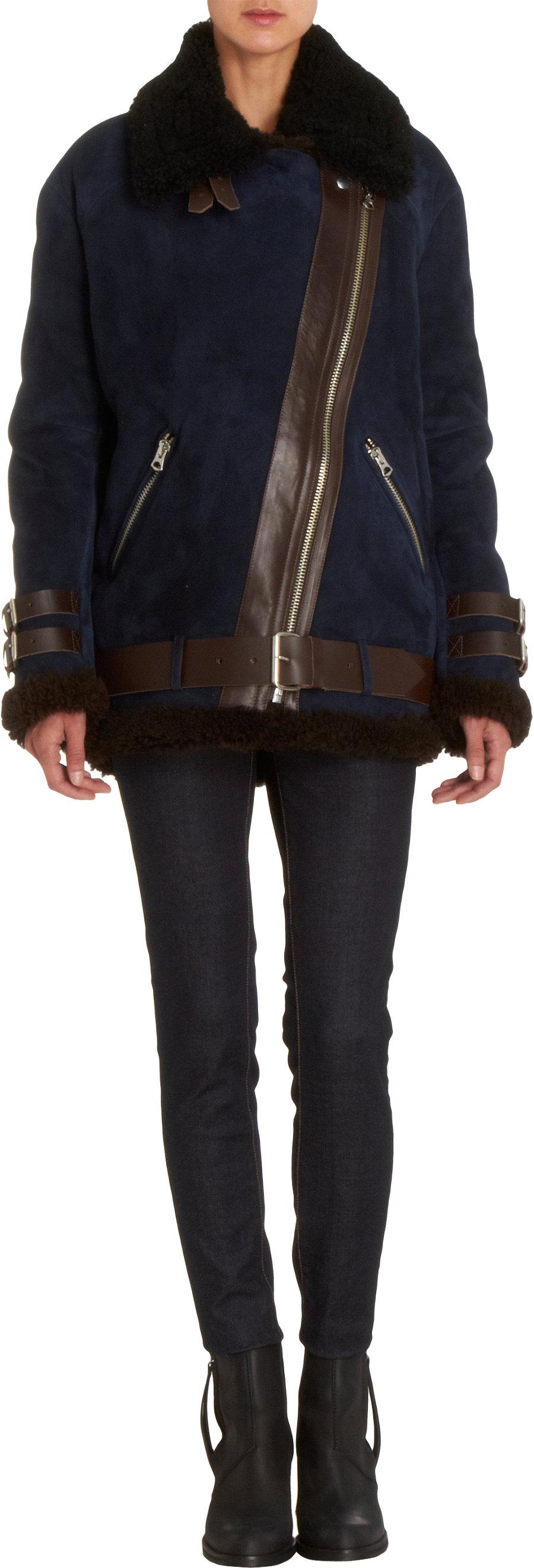 Acne Studios Oversized Moto Jacket at Barneys.com