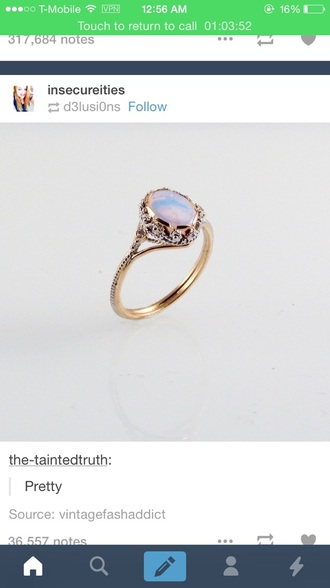 jewels nail accessories ring gold ring opal engagement ring pastel rings and tings rings and jewelry gemstone ring purple ring hand jewelry