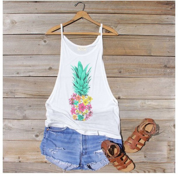 tank top pineapple tank top