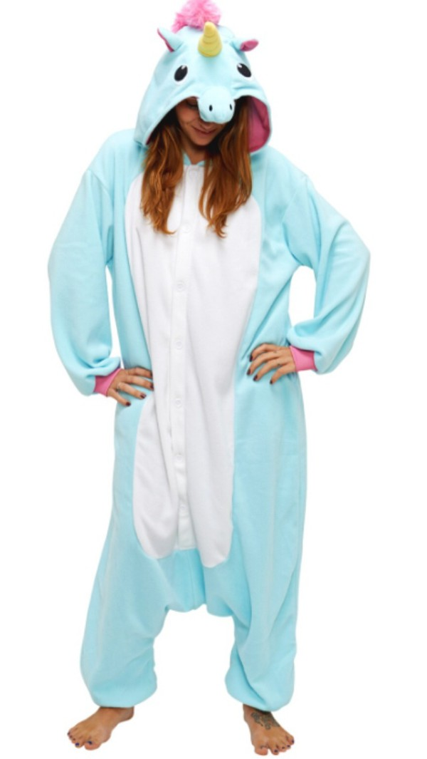pajamas blue unicorn onesie aqua blue brand store price
