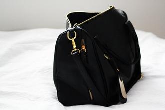 bag black purse big big black purse sleek smooth