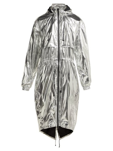 Paco Rabanne - Reflective Technical Hooded Jacket - Womens - Silver