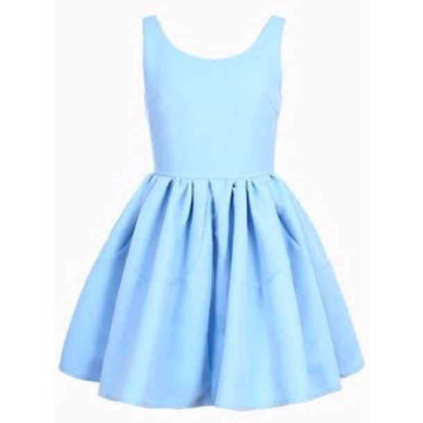 dress blue cute