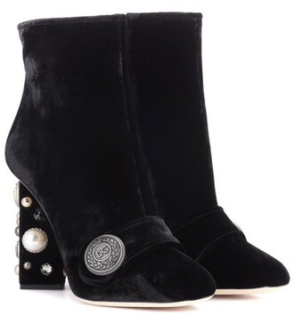 velvet ankle boots embellished boots ankle boots velvet black shoes