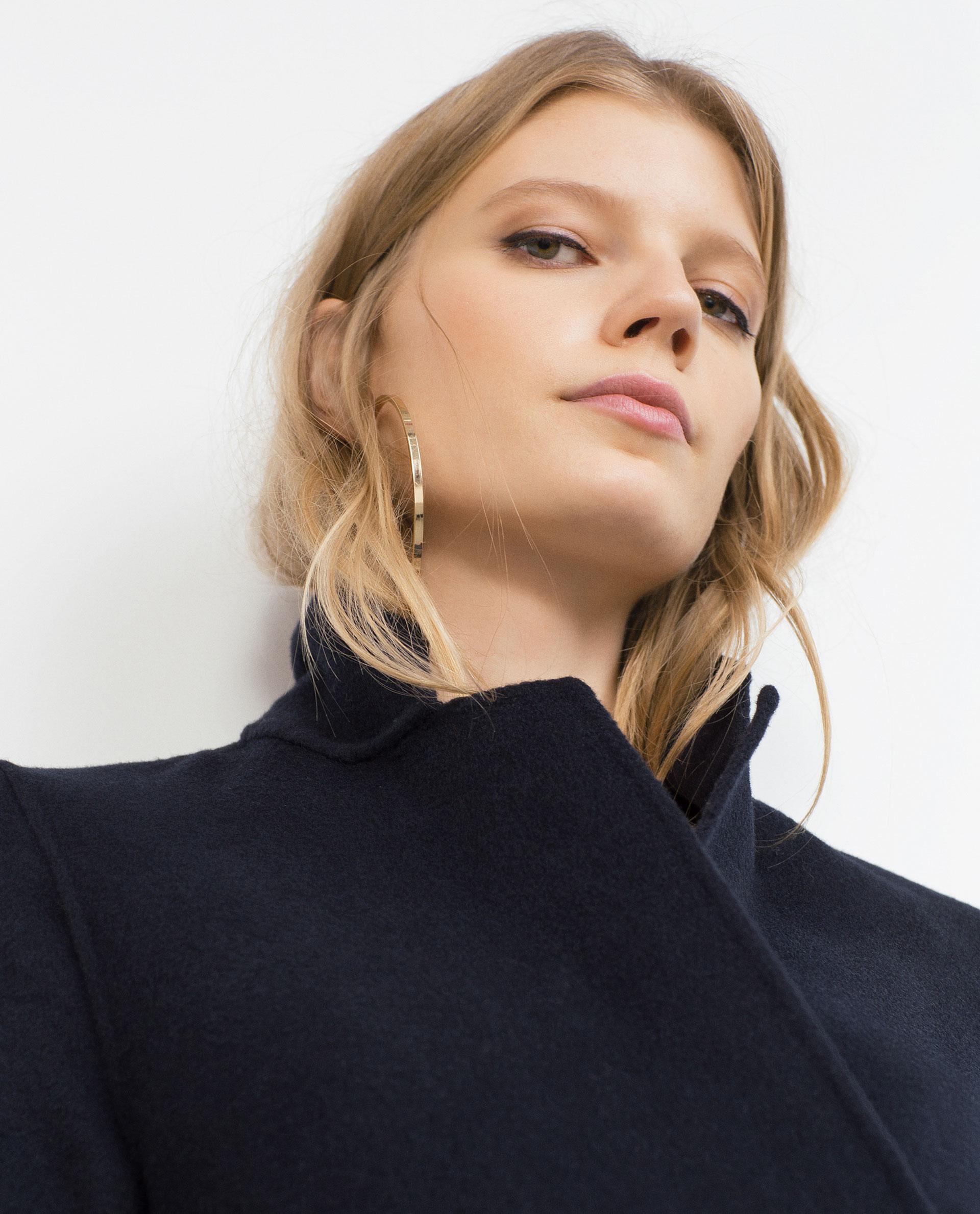 manteau long fait main studio tout voir manteaux femme zara france. Black Bedroom Furniture Sets. Home Design Ideas
