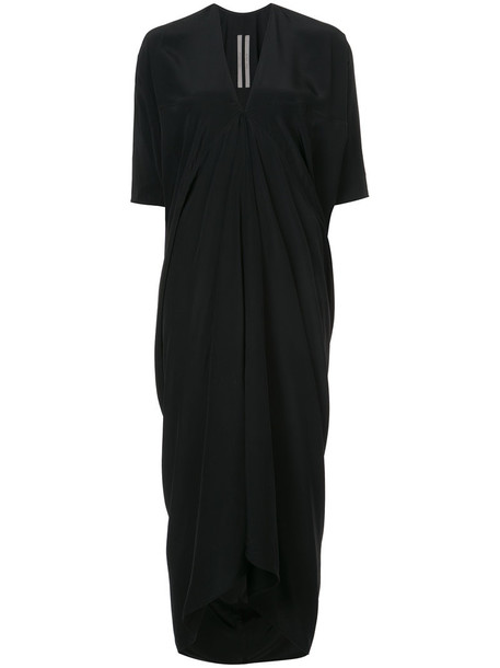 Rick Owens dress wrap dress women black silk