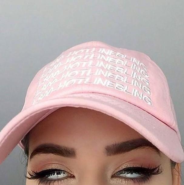 hat baby pink cap hotline bling