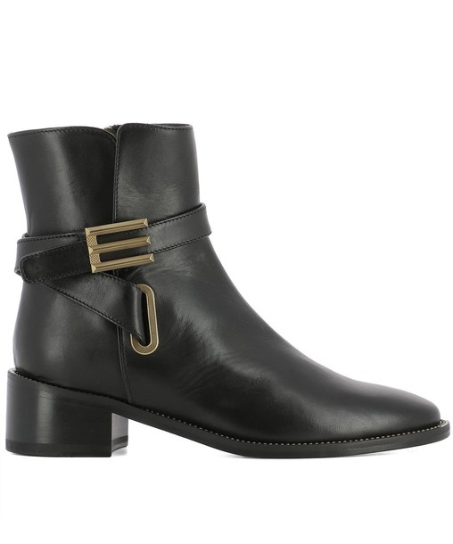 ETRO leather ankle boots ankle boots leather black black leather shoes