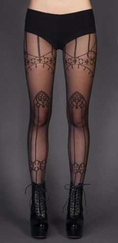 Womens - Hosiery - Cathedral Pantyhose