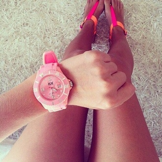 shoes sandals pink orange neon flats