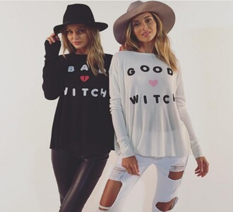 shirt wildfox 28719 long sleeves halloween halloween costume black graphic tee wildfoxcouture revolve clothing revolve revolveme white white top white tee white shirt thermal top cute