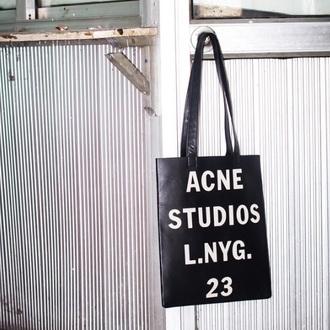 bag leather handbag leather tote bag acne studios