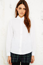 Cooperative Penny Collar Blouse in White at Urban Outfitters