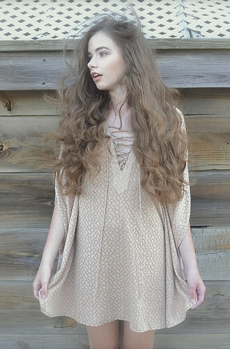 dress shoulder slits karma for a cure lace up cotton