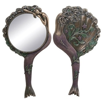 hair accessory mirror mermaid vintage pocket mirror
