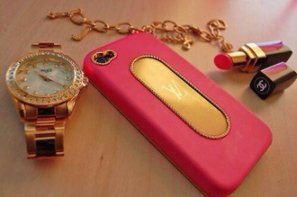 pink iphone 5s phone case technology phone cover bag earphones