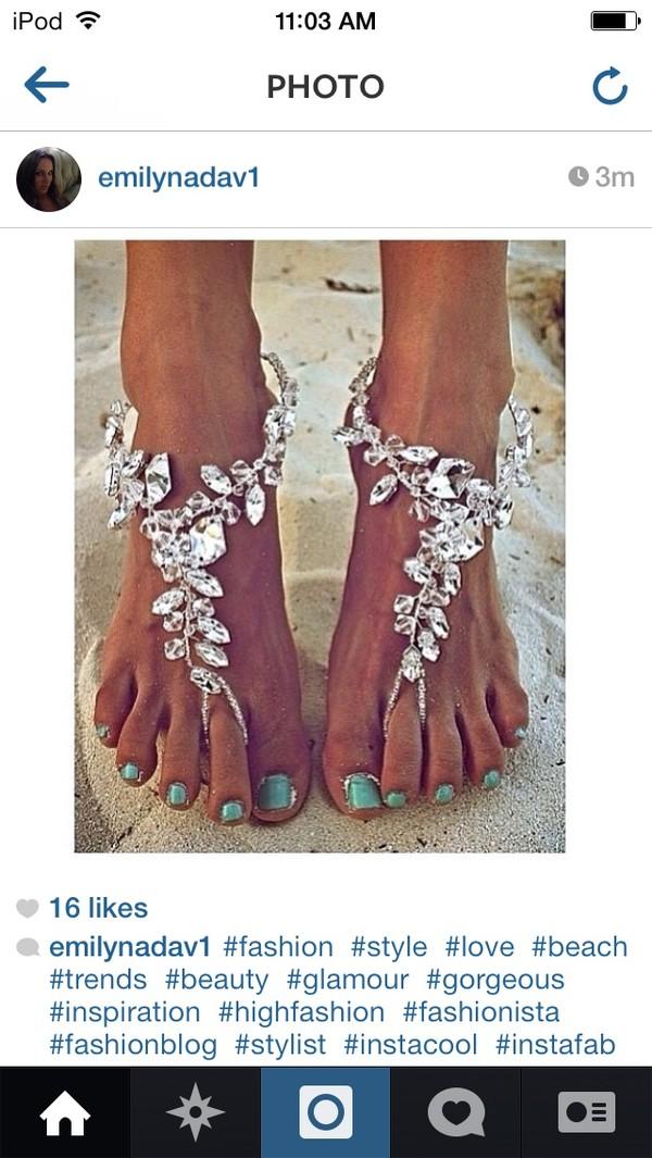 shoes diamonds white