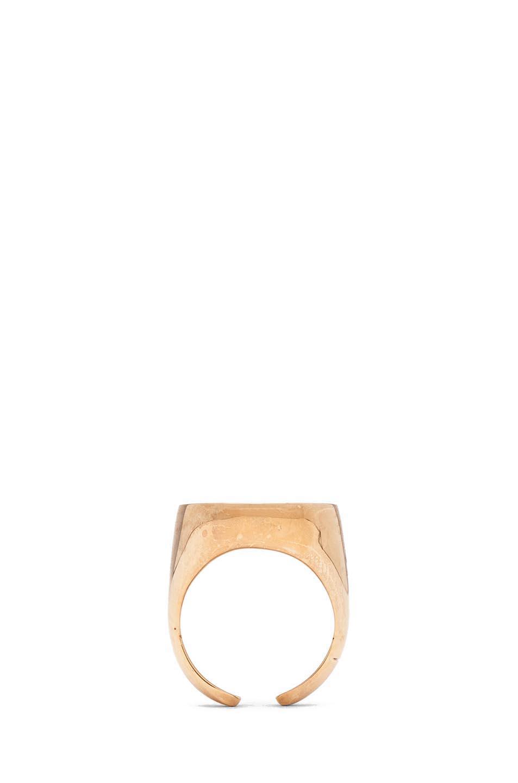 maison martin margiela brass ring in gold black. Black Bedroom Furniture Sets. Home Design Ideas