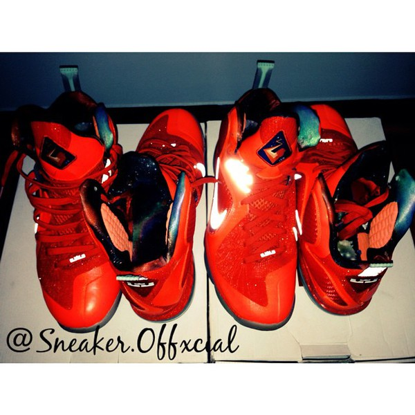 shoes galaxy lebron 9 orange galaxy's