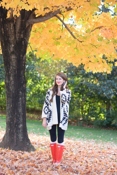 jewels earrings blogger socks southern curls and pearls cardigan make-up native american hunter boots