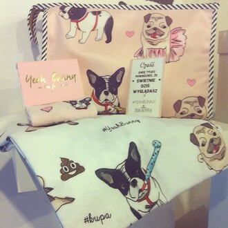 make-up yeah bunny dog pugs dog print dogs lover