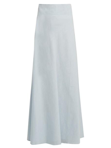 skirt cotton light blue light blue