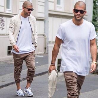 jacket maniere de voir suede beige bomber jacket 36683 menswear