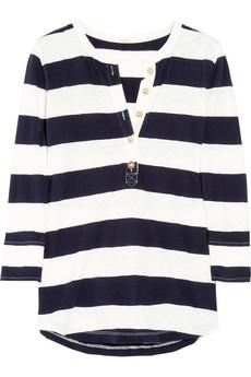J.Crew|Striped cotton Henley top|NET-A-PORTER.COM