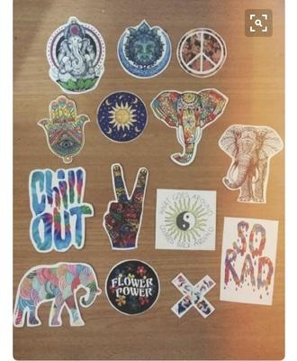 home accessory stickers decal hippie boho bohemian car home decor