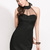 Sexy Gauze Paned Halter Dress For Club - Black  on Luulla