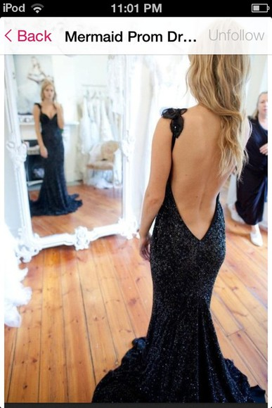 dress prom dress sparkling dress lace dress black long prom dress backless dress