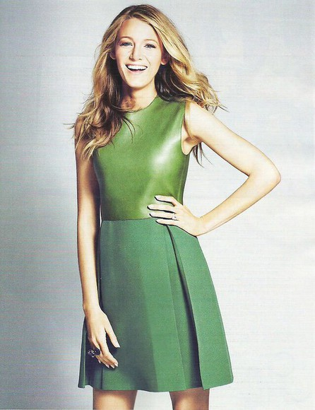 dress blake lively green dress gucci