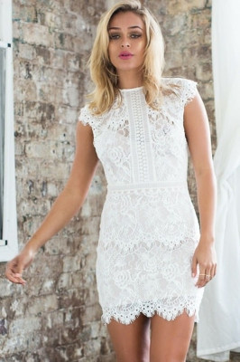 1063129aacd35 lace overlay mini dress