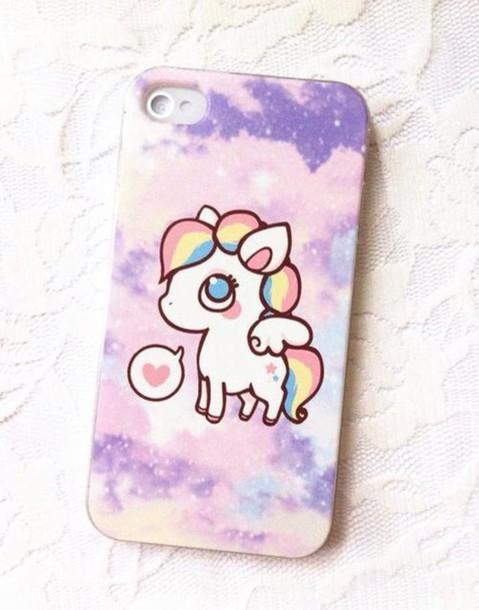 Squishy Unicorn Phone Case : Phone cover: cute, iphone, purple, pink, yellow, blue, white, cover, unicorn, rainbow, lovely ...