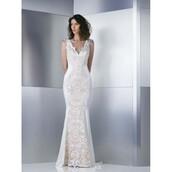 dress,sweep train,wedding dress,trainers,Gemy Maalouf,satin