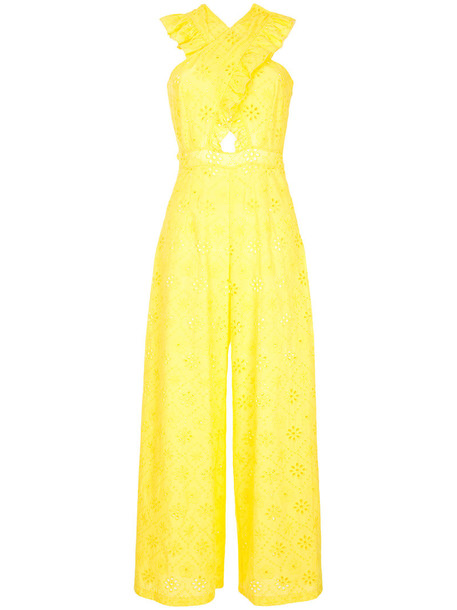 Alice McCall jumpsuit women cotton yellow orange