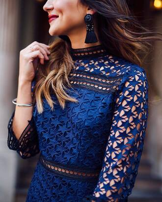 jewels tumblr earrings tassel black earrings accessories dress royal blue dress blue dress stars see through see through dress bracelets silver bracelet jewelry silver jewelry