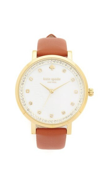 watch gold brown jewels