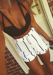 top,t-shirt,germany,shorts,skirt,tank top,top black summer,black and white,stripes,black,white,short,white shorts,black shorts,fashion,tip me,addicted,where to buy it,buy,helpneeded,bye❤️,crop,crop tops