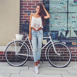 jeans nice tank top
