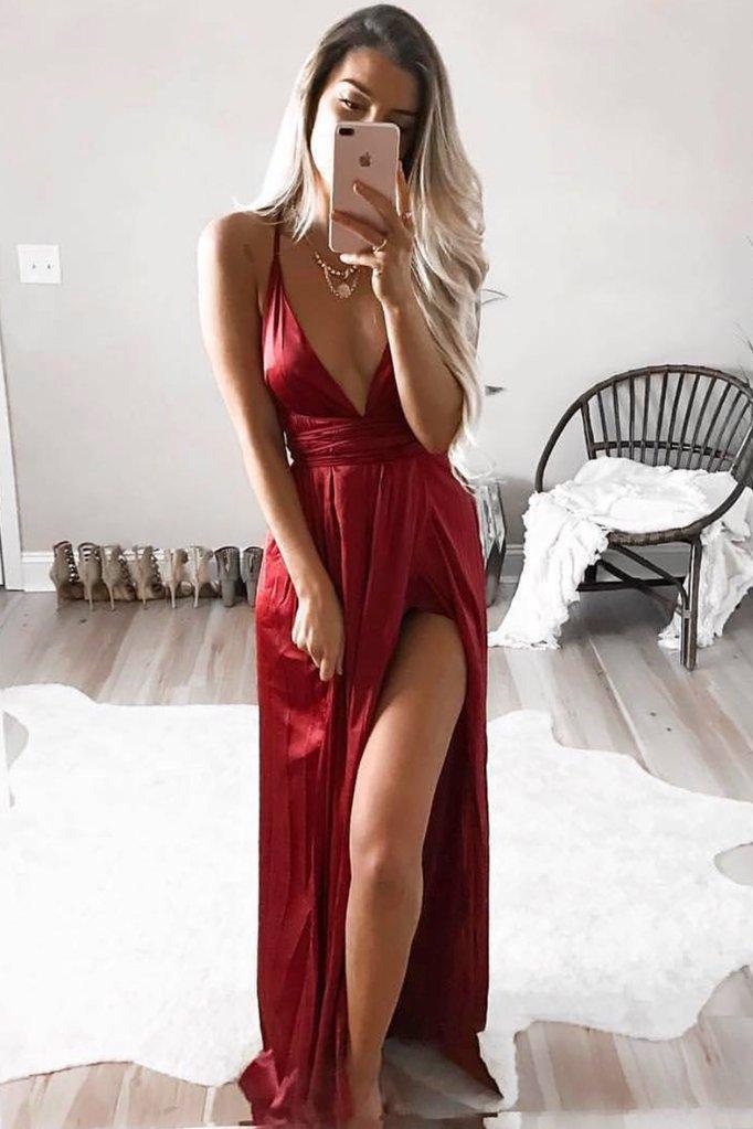 Girl On Fire Maxi Dress (Ruby)