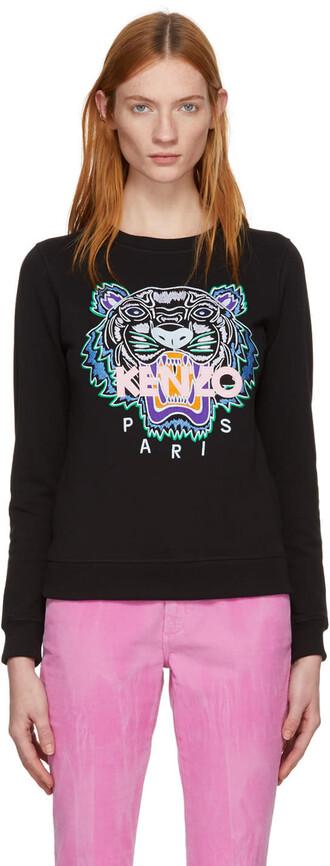 sweatshirt classic tiger black sweater