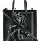 Givenchy stargate bambi tote, women's, black, calf leather/calf suede