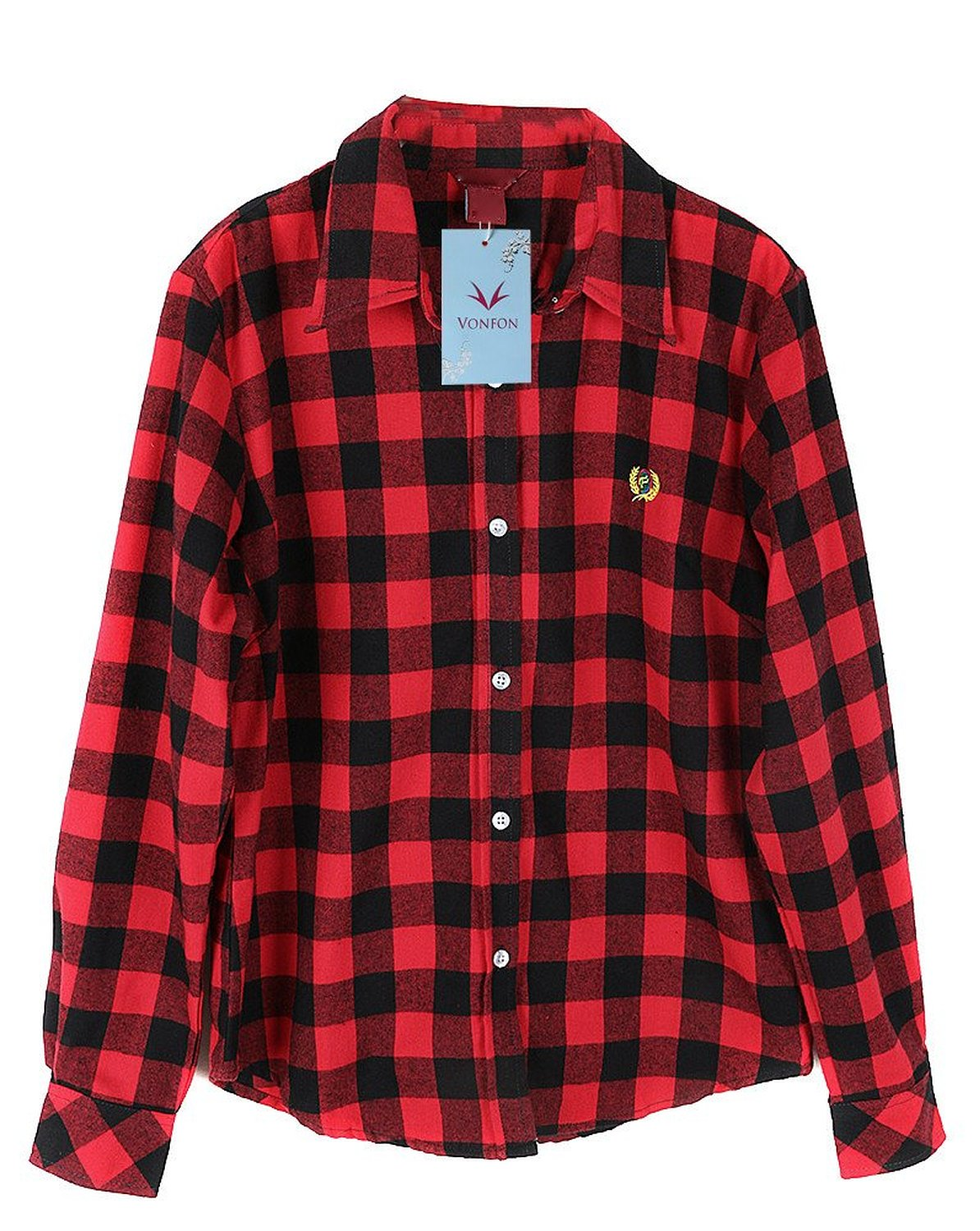Black And Red Plaid Shirt Women