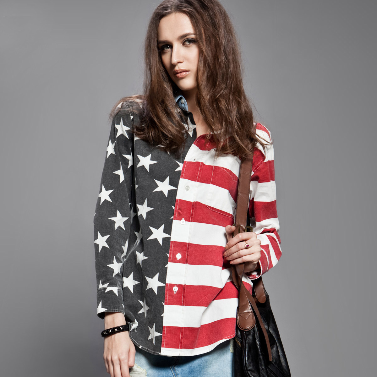 Othercrazy stars and stripes long sleeve shirt code: 20123634